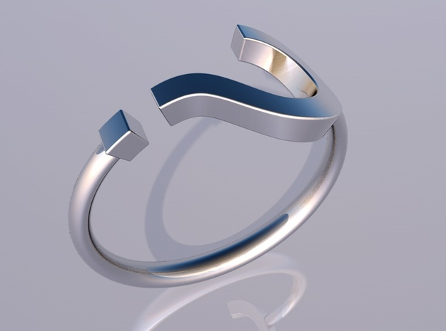 Question Mark Ring - Size US 6 3d printed render