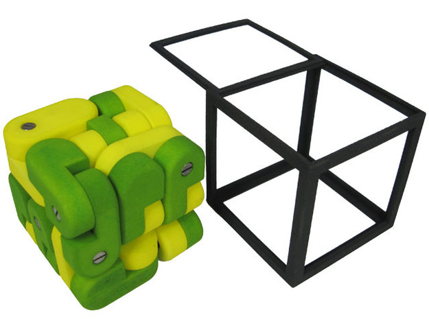 Chain Cube 3d printed Add a caption...