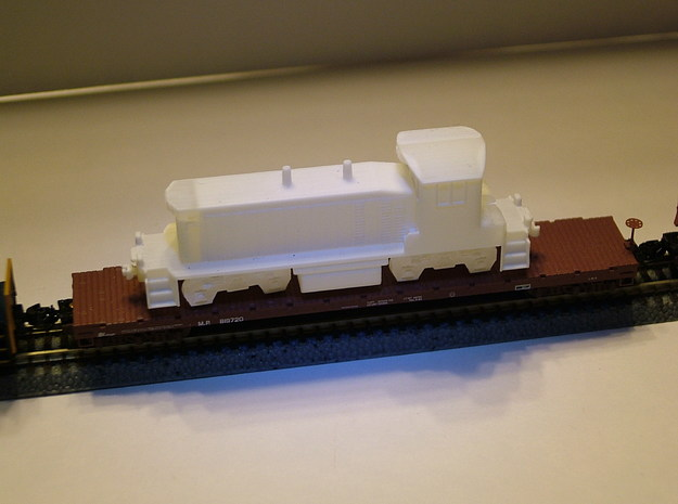 EMD SW1500 Locomotive - Zscale 3d printed Raw version before painting - photo thanks to Walter Smith