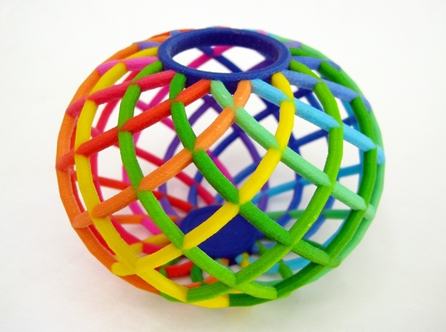 Colorful Spectrum Bowl - in Full Color Sandstone 3d printed The Spectrum Bowl is an excellent holiday gift.