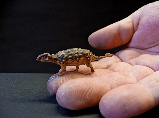 Ankylosaurus Krentz 3d printed White Strong and Flexible painted by Martin Garratt
