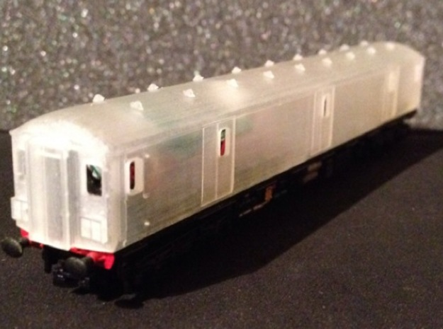 N Scale (1:148) Class 128 Gloucester Parcels Body 3d printed Add a caption...