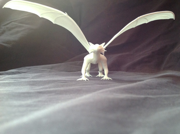 Dragon Green 3d printed an example of this miniature in white plastic