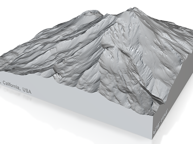 8'' Mt. Shasta, California, USA, Sandstone 3d printed