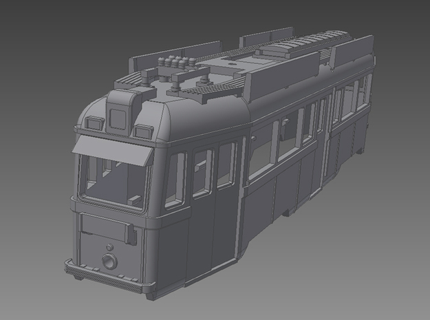 UV Tram From Budapest in 1:160 3d printed