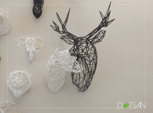 Wired Life Doe Large Facing Left 3d printed White Doe and Black Stag