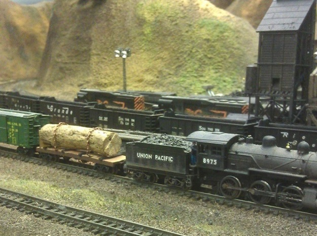 Yosemite Bulk Head Log Car - N Scale 1:160 3d printed