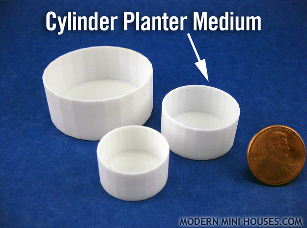 Cylinder Planter Medium 1:12 scale 3d printed