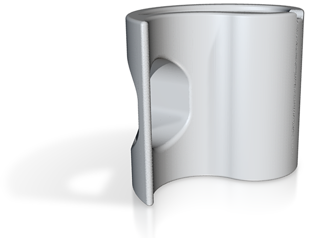 Yin-Yang Espresso Cup, anticlockwise variant 3d printed For some reason the default Shapeways render shows the mug as being upside-down.