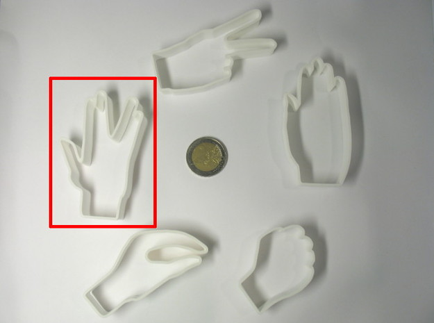 Live long - cookie cutter 3d printed