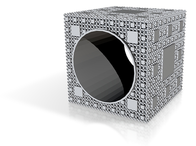 Inverted Menger Sponge Ring - EXTREMELY DETAILED! 3d printed