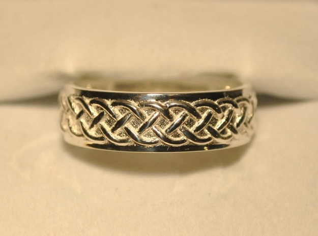Celtic Wedding Knot Ring Size 12.5 3d printed Back