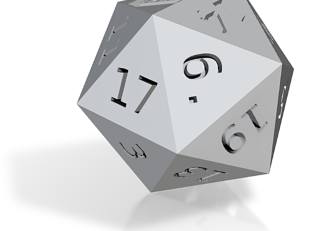 D20 Who Shrinked 3d printed
