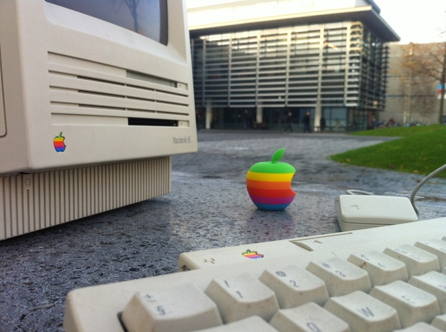 Retro Apple Logo in 3D 3d printed With the whole group