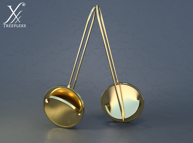 i-Lens Gulp ! 3d printed Golden brass (cycle render).
