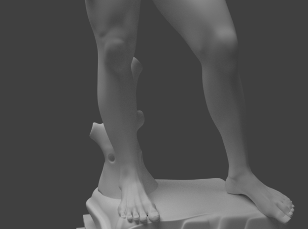Michelangelo's David (full body) 3d printed Rendered with Blender Cycles