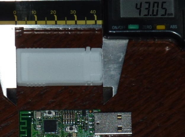 USB RF case 3d printed The size on the case.