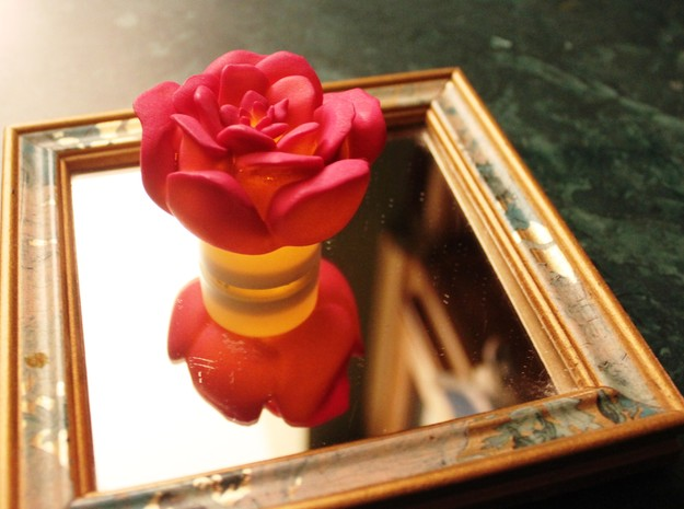 Rose Tea Light Cover / Christmas Light Cover ~2.5 3d printed Rose with tea light
