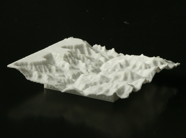 "3'' Grand Canyon Terrain Model, Arizona, USA 3d printed Photo of 3"" model, looking WSW; at left is the South Rim."