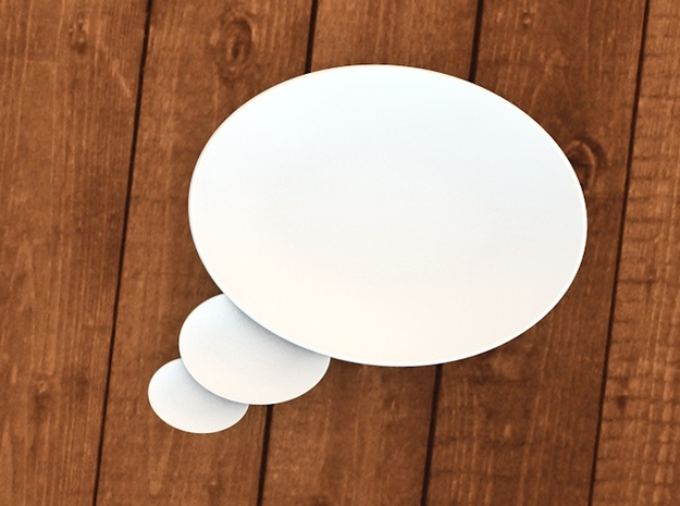 Tea Plate Thinking Buble 3d printed thinking bubbles plate 3