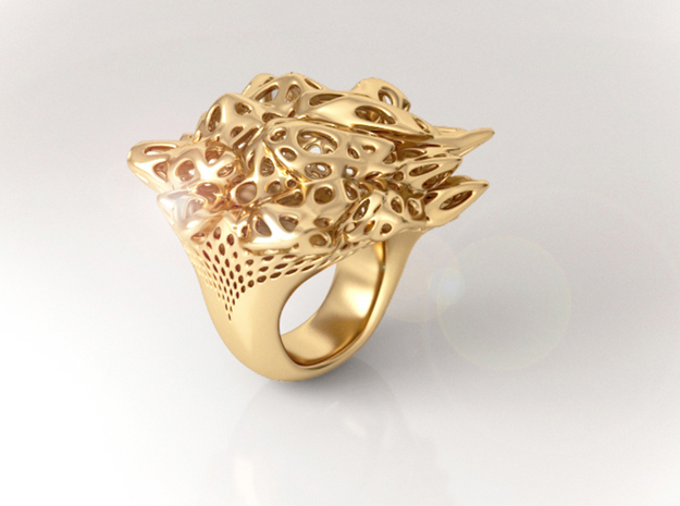 Nebula Ring 3d printed Nebula Ring in 18k Gold plated