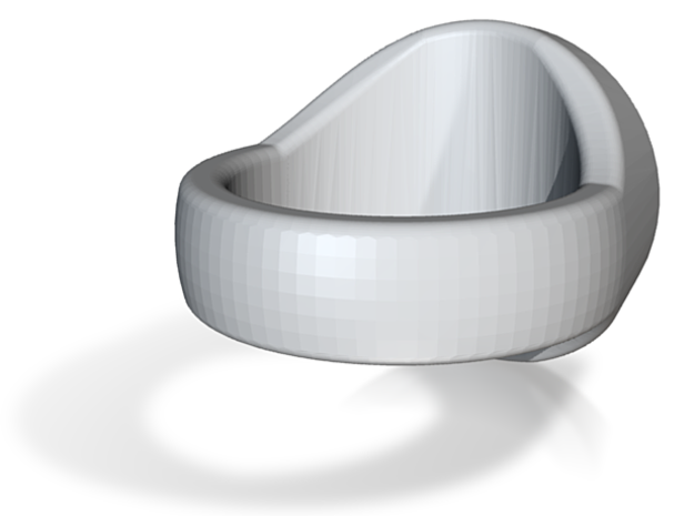 Trinity Signet Ring 3d printed