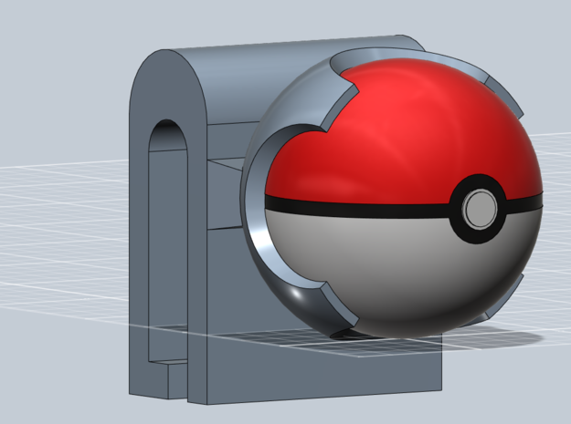 Pokeball 3DS cart holder- BETA 3d printed Everything put together.