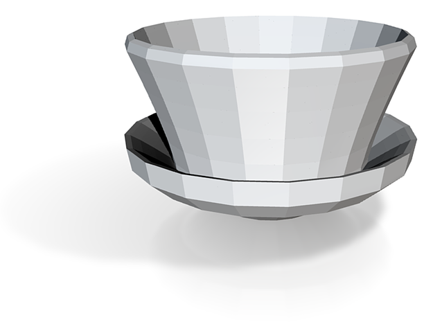 tea cup with built in saucer 3d printed