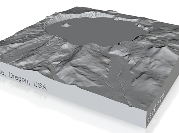 4'' Crater Lake, Oregon, USA, Sandstone 3d printed