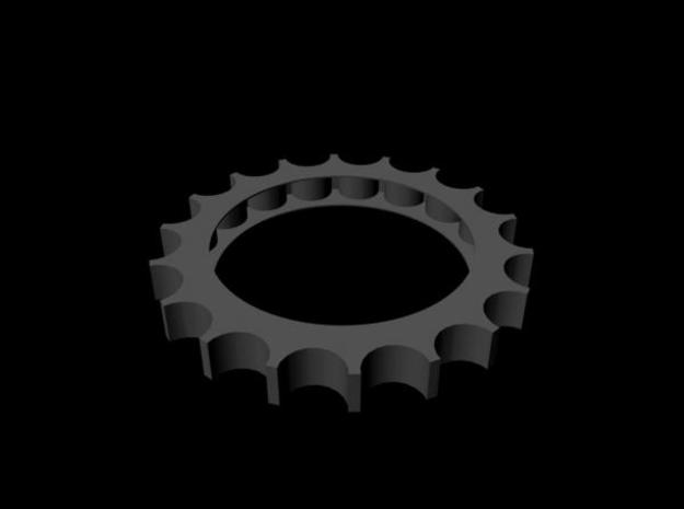 Cog Test 3d printed Better rendering (without streaks).