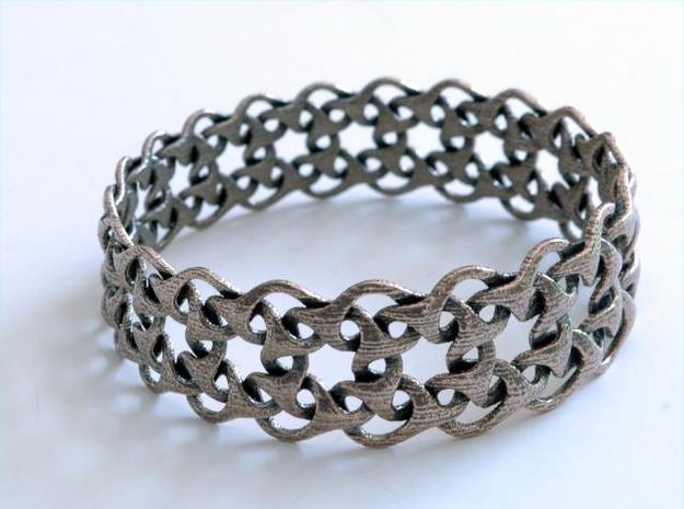 Bracelet V Large 3d printed stainless steel