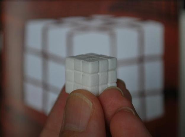 The Seldom Seen Cube 3d printed Closed up close