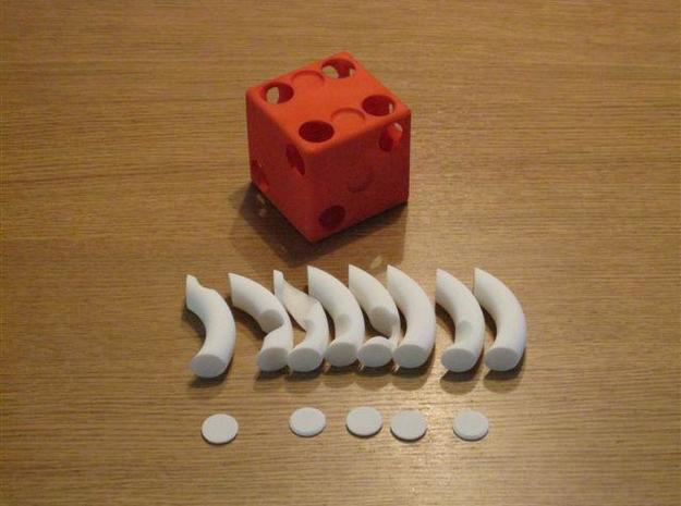 Plugged Dice 3d printed Parts