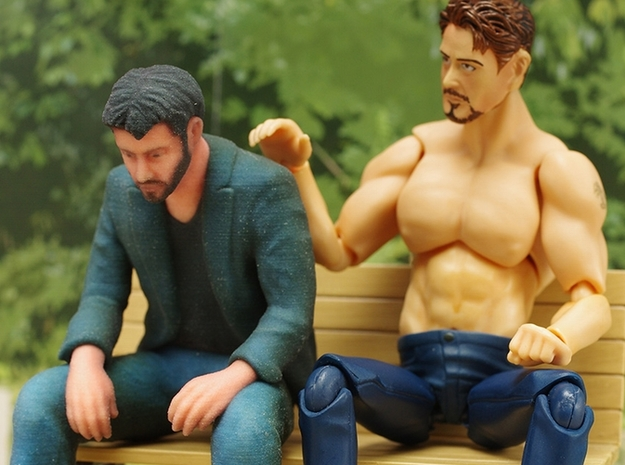 A Little Sad Keanu Reeves 3d printed Photography by toy builder idk (from kotaku.com)