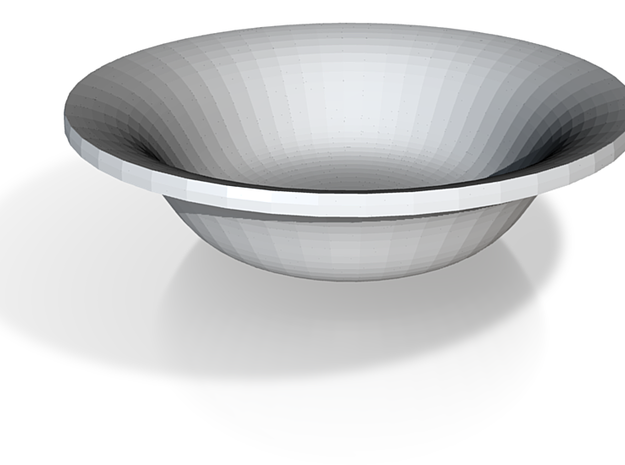 Lipped bowl 3d printed