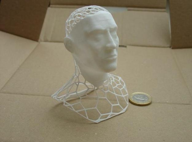 King Polygon Bust (updated) 3d printed the printed model