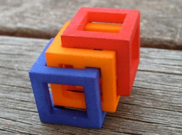 Little MazeNCubes 3d printed solved