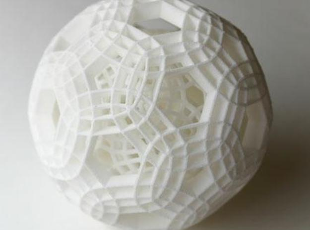 Sphere with two loose layers inside 3d printed Description