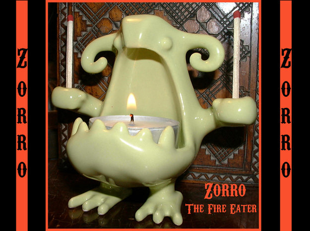 Zorro the Fire Eater 3d printed See The Amazing Zorro Eat Fire!