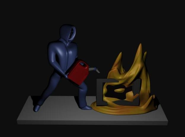 Burn Your TV 3d printed Concept render of model