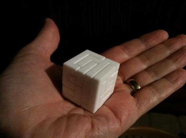 Switch Cube (3 cm) 3d printed 3cm Switch Cube on palm