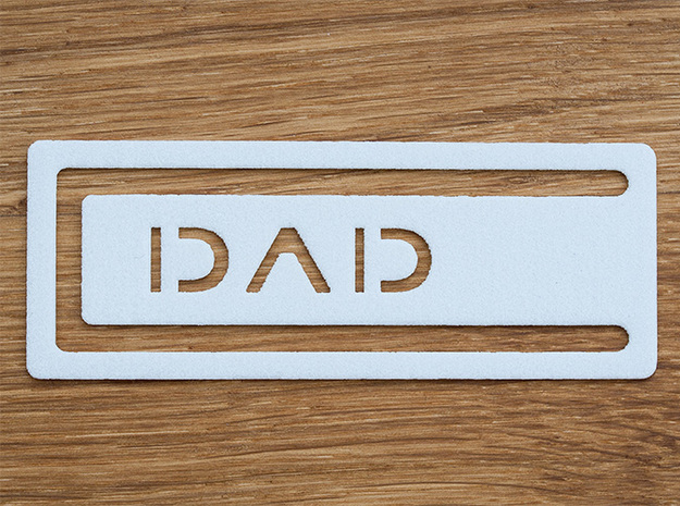 Bookmark Dad 3d printed Just as a reference, the book is a big A4 format.