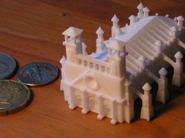 Gothic Style Cathedral 3d printed Photo3 with US Dime, Quarter, and 20 cent euro piece