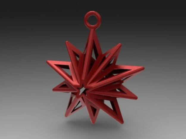 Christmas Star 3d printed render