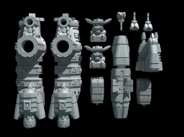 Titan Class - Assault Frigate 3d printed parts overview