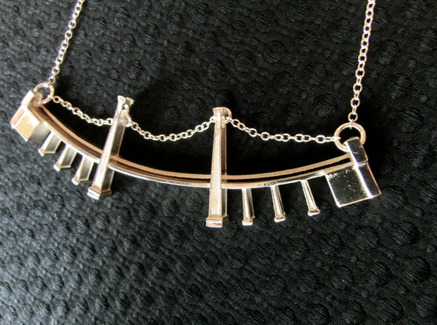 Williamsburg Bridge Necklace 3d printed