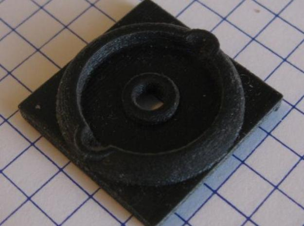 242 Shay Center Plate H-8 3d printed Black Detail 5mm grid