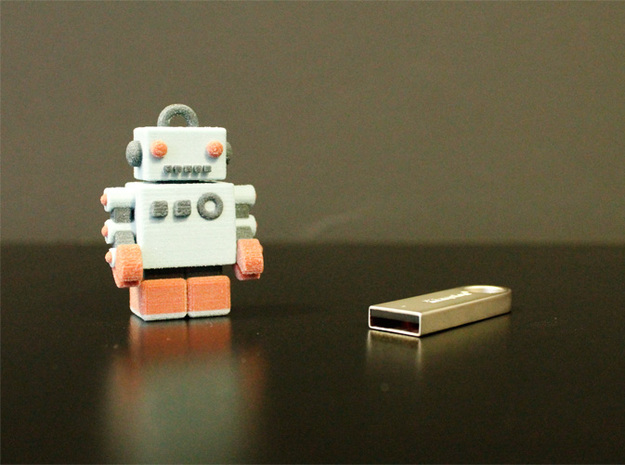 Color Robot USB Pen Drive 3d printed here we are...