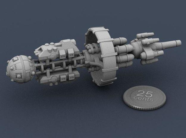 Belter Carrier 3d printed Render of the model with a virtual quarter for scale.