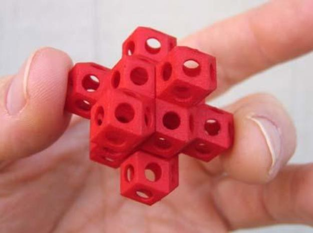 Nuclear Fusion Puzzle 3d printed Assembled puzzle in hand.